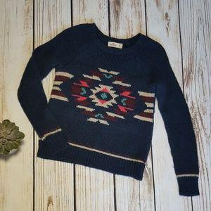 Hollister Southwest Knit Crewneck Sweater | XS